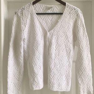 MODA INT'L, White sweater , M